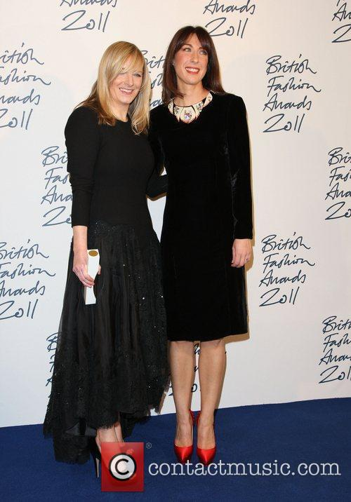 Sarah Burton and Samantha Cameron British Fashion Awards...