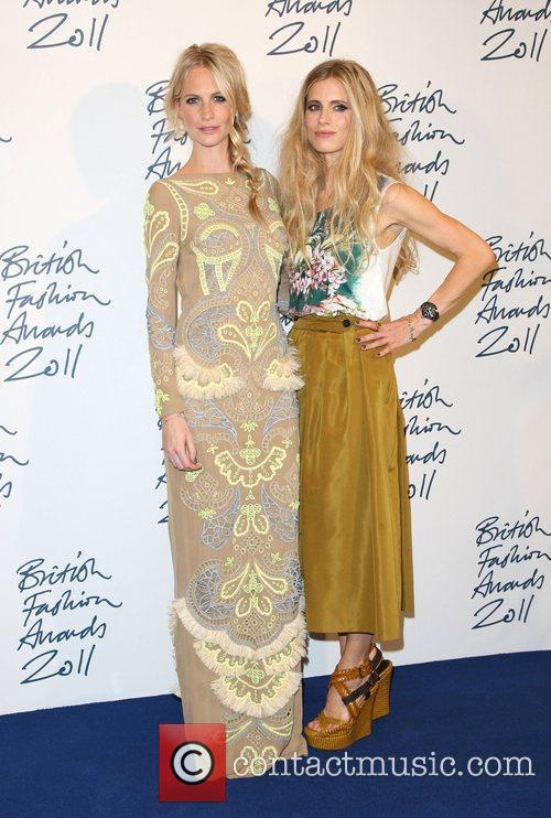 Poppy Delevigne and Laura Bailey British Fashion Awards...