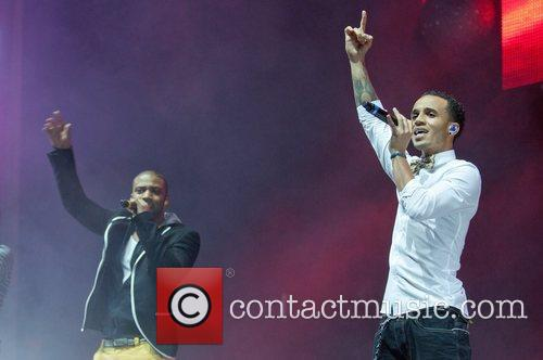 Aston Merrygold and JB of JLS Performing at...