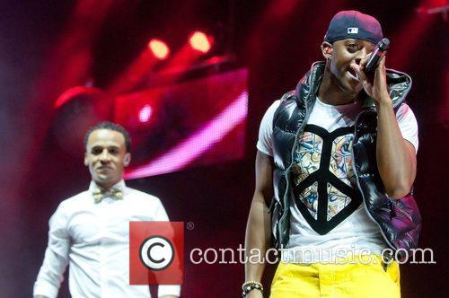 Aston Merrygold and Oritse Williams of JLS Performing...