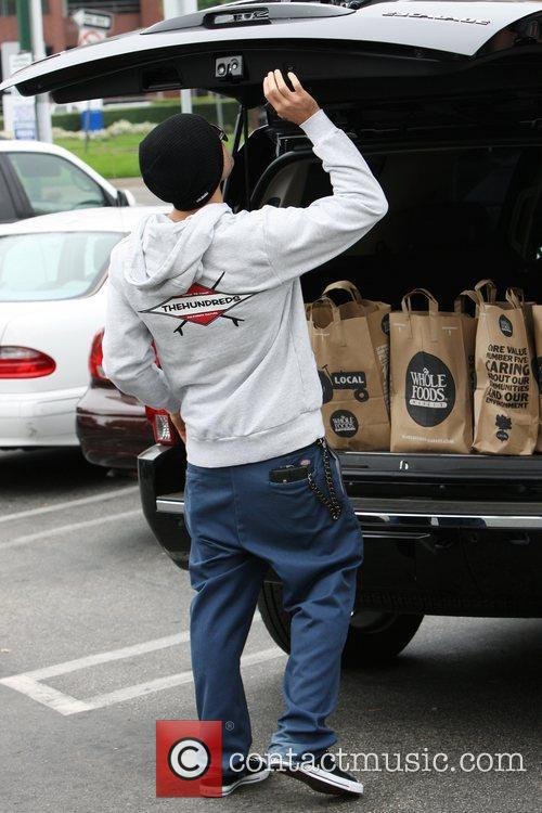 Brody Jenner goes shopping at Whole Foods Los...
