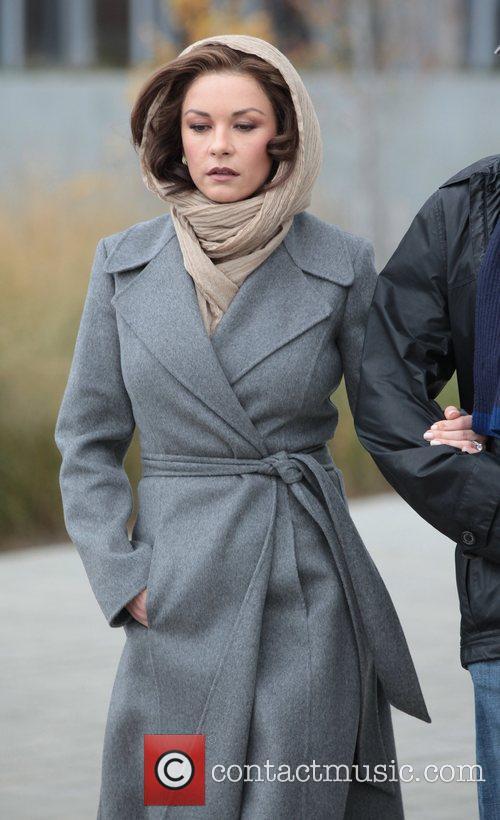 Catherine Zeta Jones on the film set of...