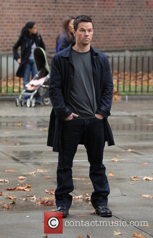 Mark Wahlberg  on the film set 'Broken...