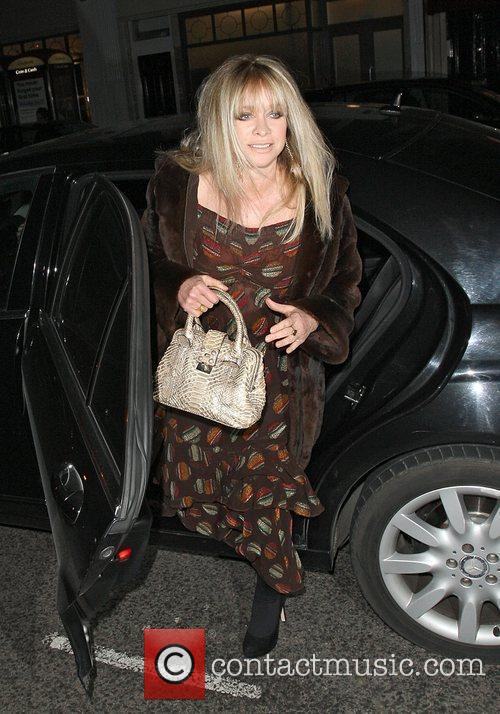 Jo Wood arriving at the Brompton Club