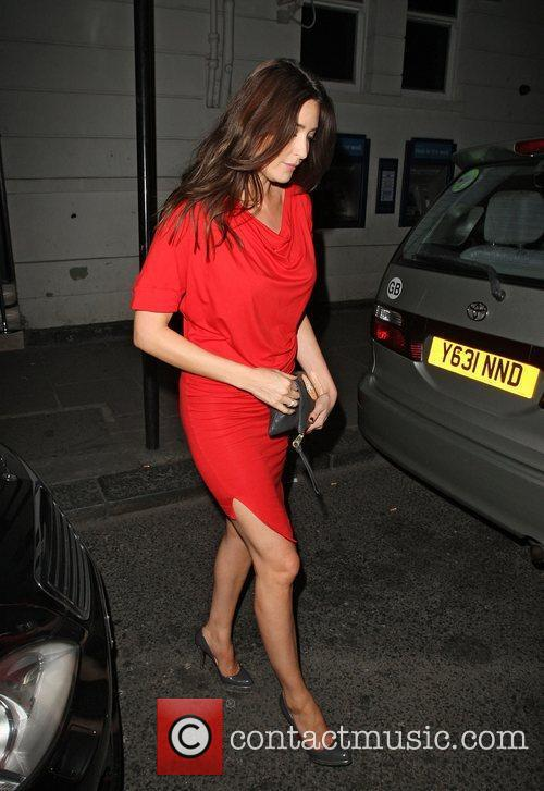 Lisa Snowdon leaving the Brompton club. London, England