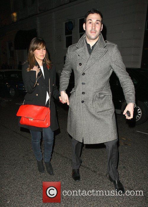 Rachel Stevens and Alex Bourne leaving the Brompton...