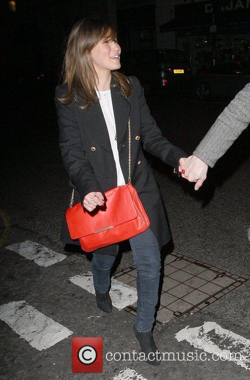 Rachel Stevens leaving the Brompton club. London, England