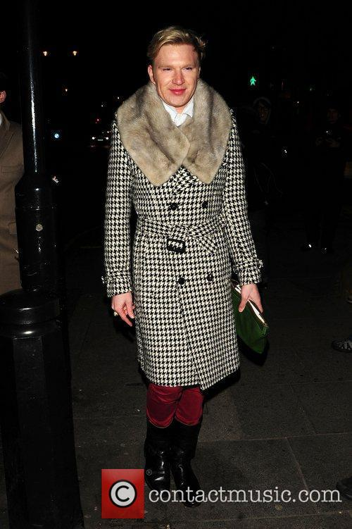 At Sarah Harding and Tom Crane engagement party...