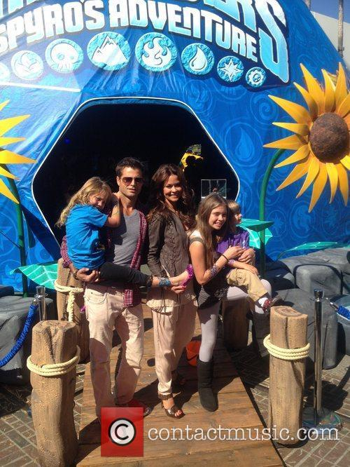 Brooke Burke and her family at The Grove...