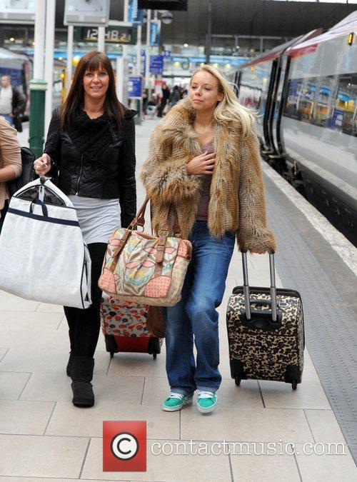 Sacha Parkinson  catches a train to London...