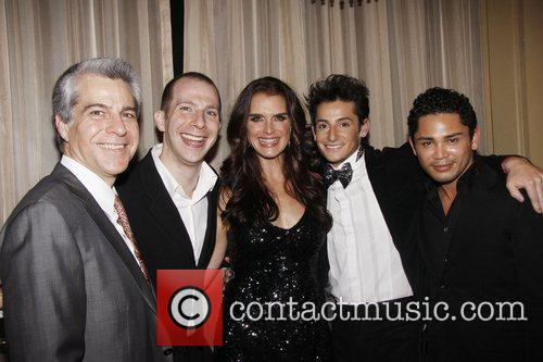 Mark Waldrop, music director Charlie Alterman, Brooke Shields,...