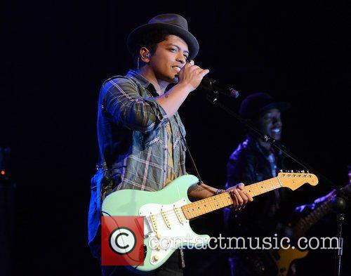 Bruno Mars performing at The Olympia Theatre.