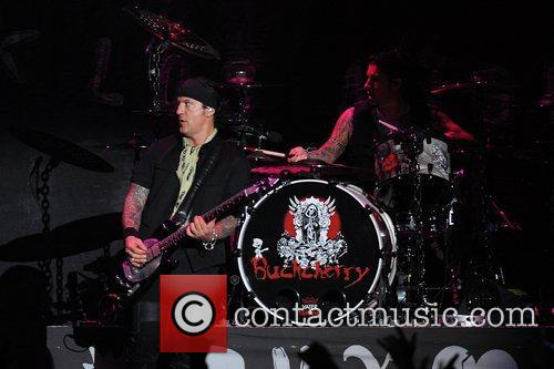 Keith Nelson of Buckcherry perform at the American...
