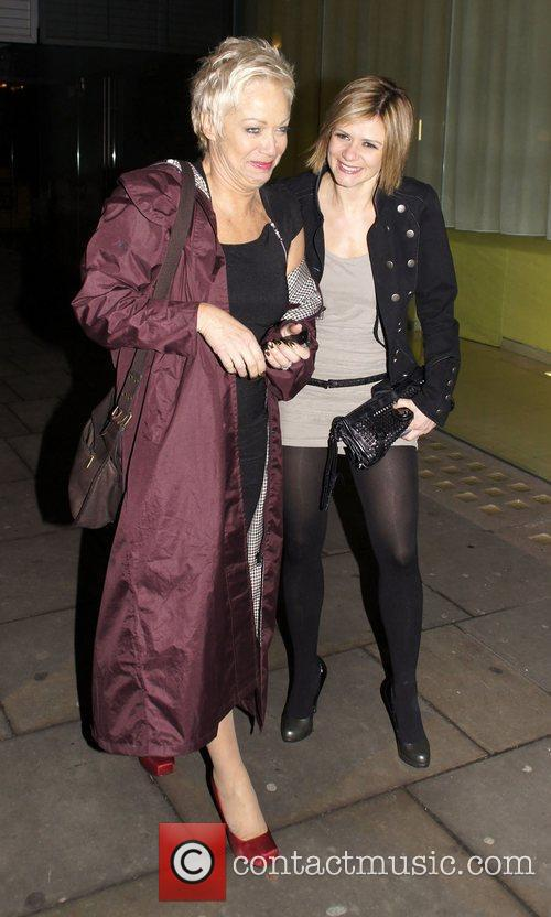Denise Welch and pro skater, Maria Filippov at...