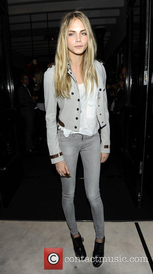 Cara Delevingne Burberry party held at the Burberry...