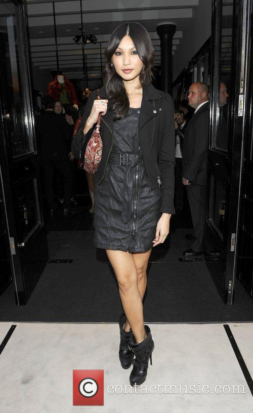 Burberry party held at the Burberry Brit store,...