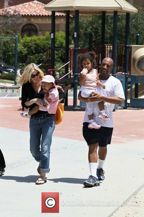 Byron Allen and his wife, Jennifer Lucas enjoy...