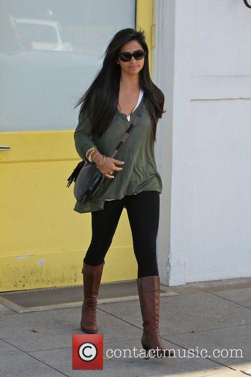 Camila Alves Celebrities outside Byron and Tracey Salon...