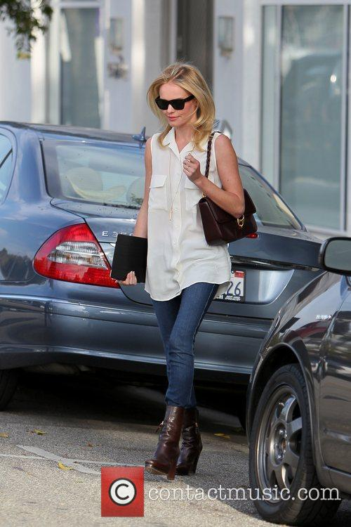 Kate Bosworth celebrities outside Byron and Tracey Salon...