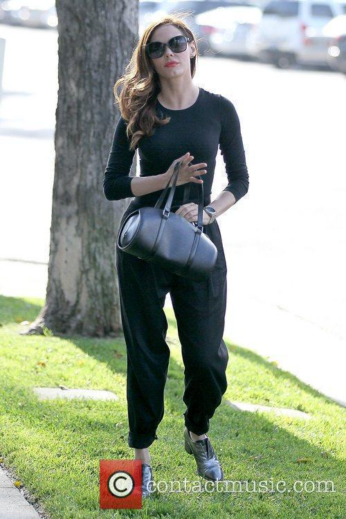 Rose McGowan celebrities outside Byron and Tracey Salon...