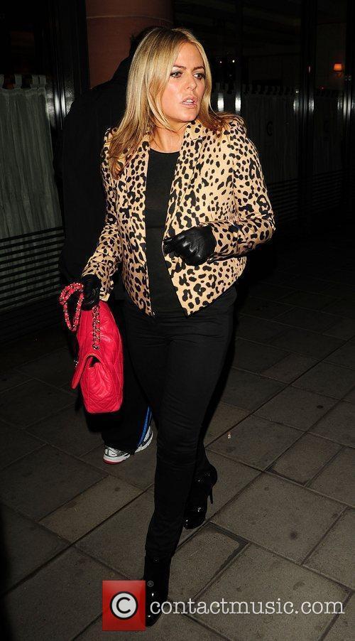 Patsy Kensit leaving C London restaurant