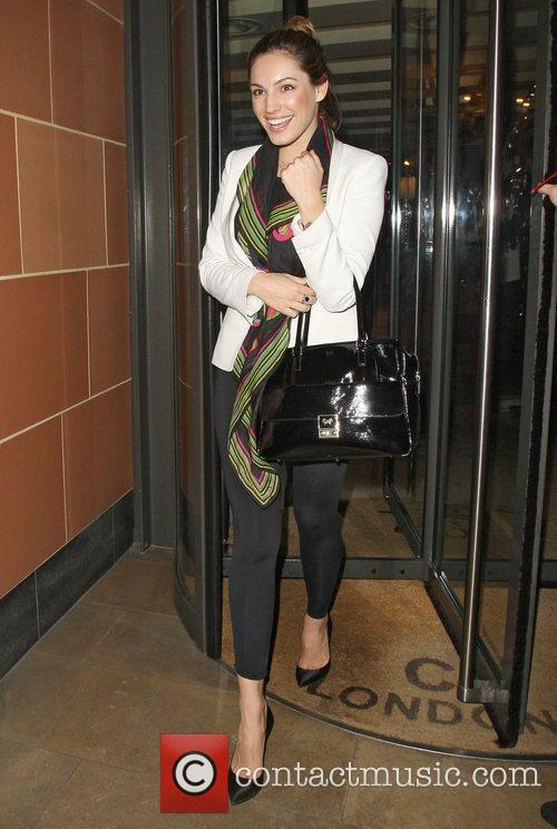 Kelly Brook leaving C London restaurant after dining...