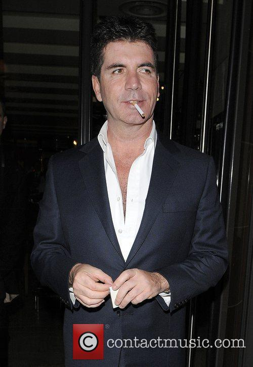 Simon Cowell outside C London restaurant in Mayfair...
