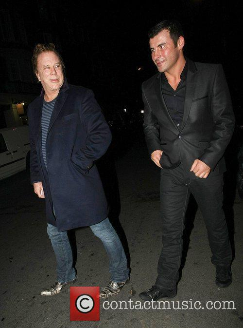 Mickey Rourke and Joe Calzaghe 9