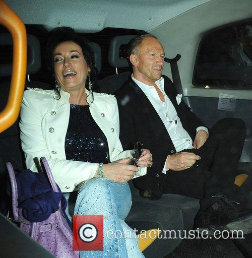Celebrities seen leaving C London restaurant