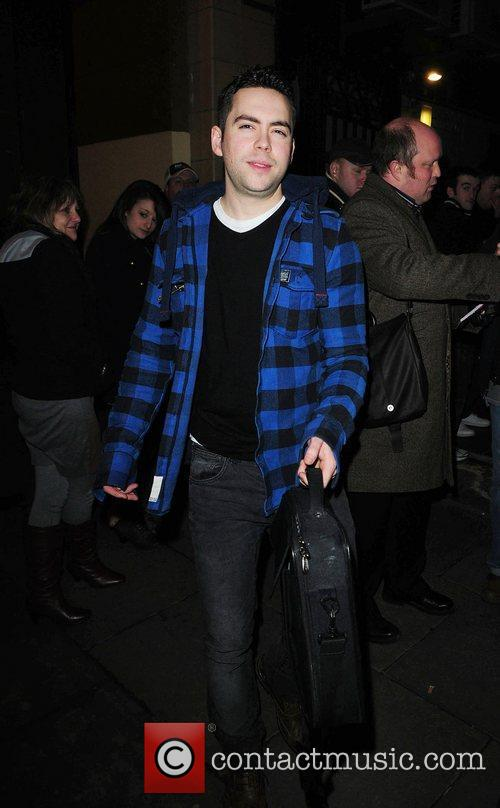 Bruno Langley  Celebrities outside the Palace Theatre...