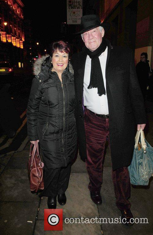 Ruth Madoc and husband  Celebrities outside the...