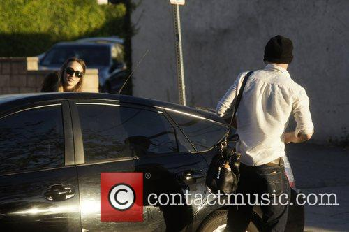 Cam Gigandet and Dominique Geisendorff leaving the Kings...