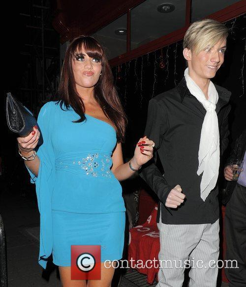 Amy Childs and Harry Derbidge arriving at a...