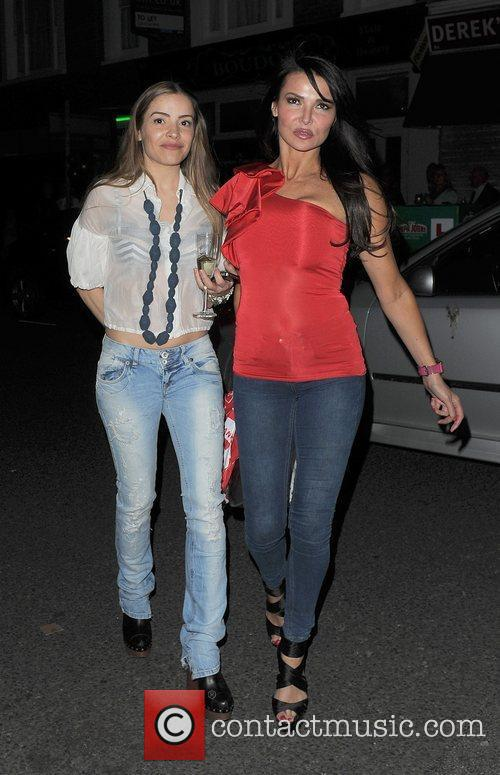 Elen Rivas and Lizzie Cundy arriving at a...