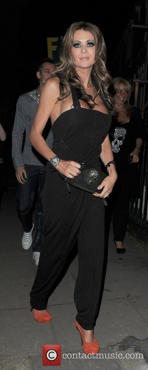 Nicola McLean arriving at a private party in...