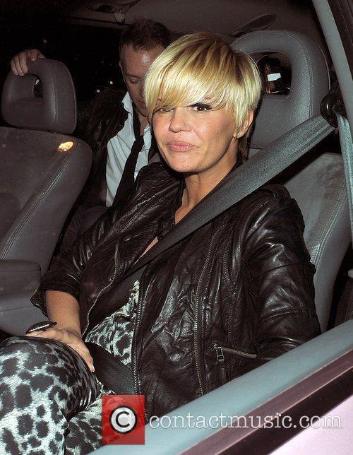 Kerry Katona leaving a private party in Chelsea....