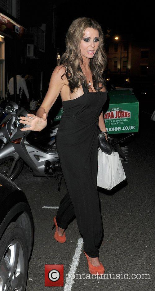Nicola McLean leaving a private party in Chelsea....
