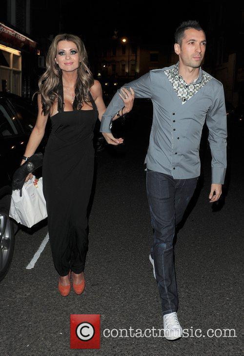 Nicola McLean and Tom Williams leaving a private...