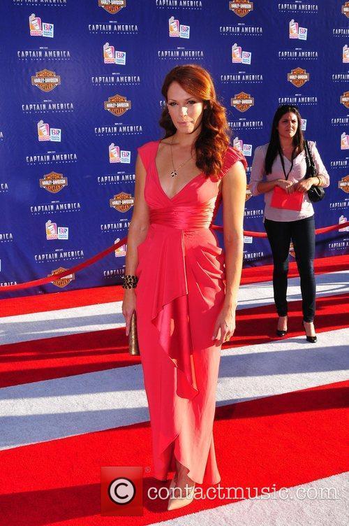 Amanda Righetti Los Angeles Premiere of Captain America:The...