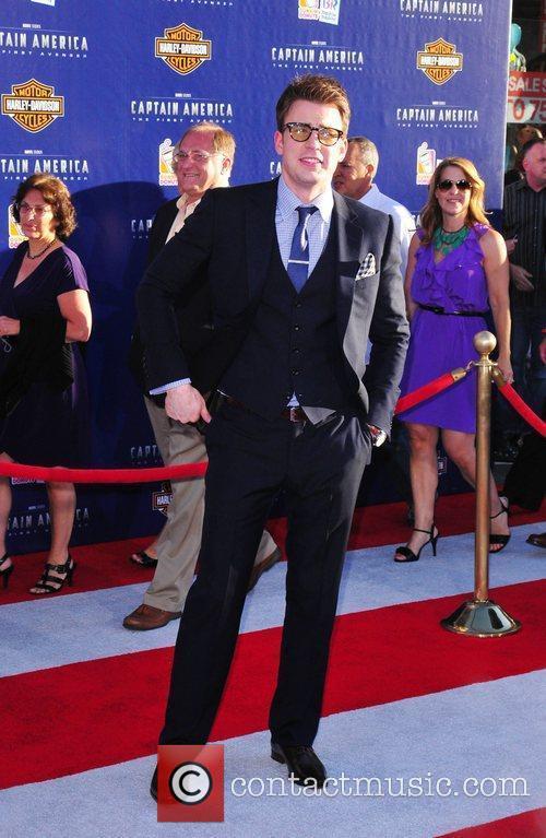 Chris Evans Los Angeles Premiere of Captain America:The...