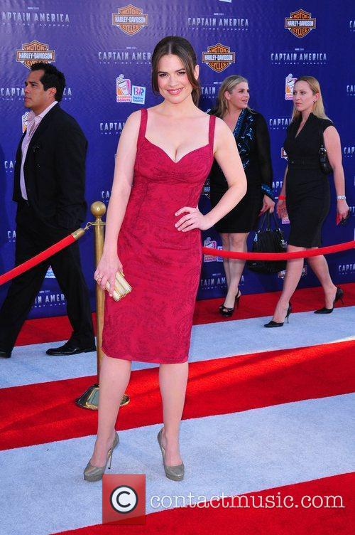 Hayley Atwell Los Angeles Premiere of Captain America:The...