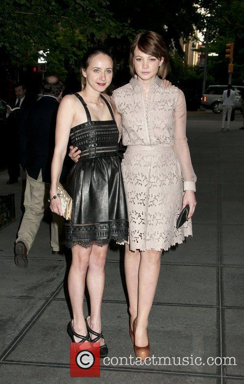 Carey Mulligan and friend Celebrities outside the Gramercy...