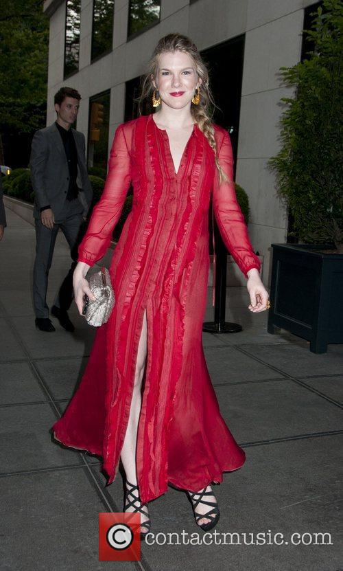 Lily Rabe Celebrities outside the Gramercy Hotel in...