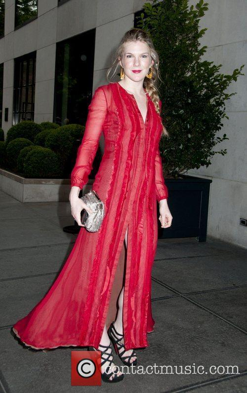 Celebrities outside the Gramercy Hotel in New York...
