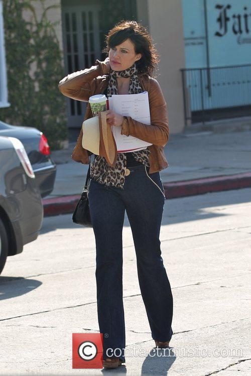 Carla Gugino is seen out shopping in West...