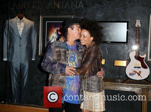 Carlos Santana and Paul Davis