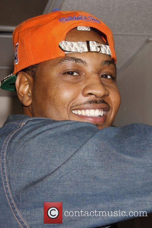 Carmelo Anthony, backstage at the Broadway musical production...