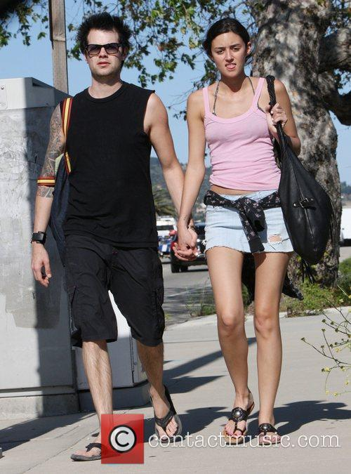 Walking with her boyfriend in Malibu