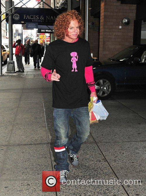 Scott 'Carrot Top' Thompson out and about in...