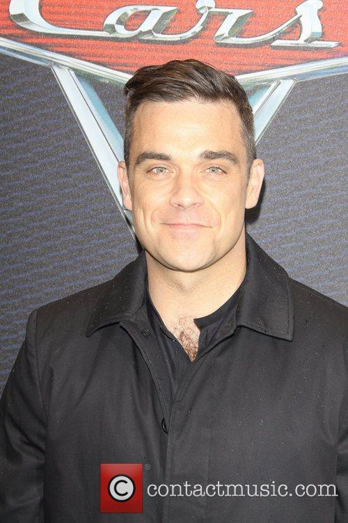 Robbie Williams attends the German Premiere of Cars...
